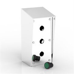 SR-PB3-P | 15° Sloping Roof Push-Button Enclosure