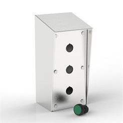 SR-PB3-S | 15° Sloping Roof Push-Button Enclosure