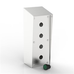 SR-PB4/1-S | 15° Sloping Roof Push-Button Enclosure