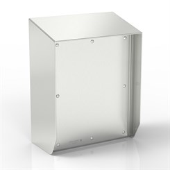 SR15-TCE80-S316 | 15° Sloped Top Junction Box Enclosure with Removable Stand-Off Mounting Pillars